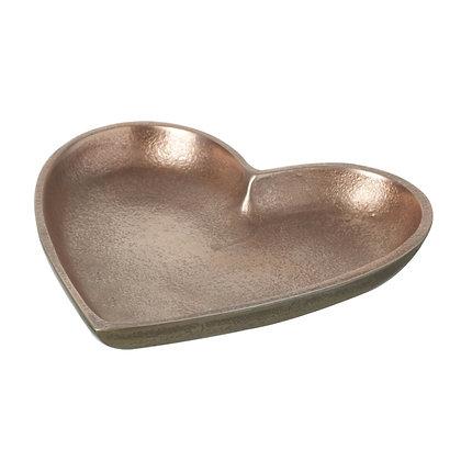 Rose Gold Love Heart Dish