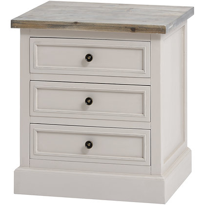 Soulby 3 Drawer Side Table
