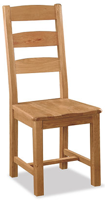 Settle Slatted Chair with Wooden Seat