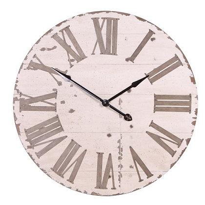Large Distressed Cream Clock