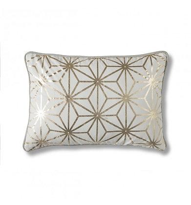 Diamond Geo Cushion in Gold & Pink