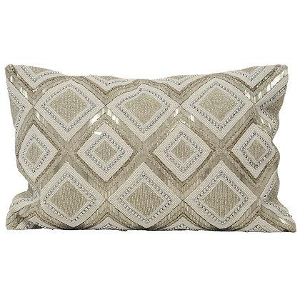 Gatsby Silver Embellished Cushion