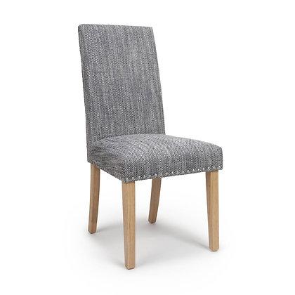 Grey Tweed stud chair