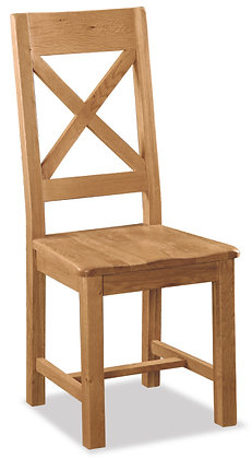 Settle Cross Back Oak Chair