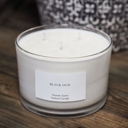 Large 3 Wick Black Oud Heaven Scent Candle
