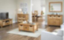 Oak living room furniture Bingley | Oak basket furniture