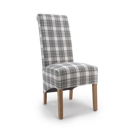 Kilnsey Cappuccino Check Chair