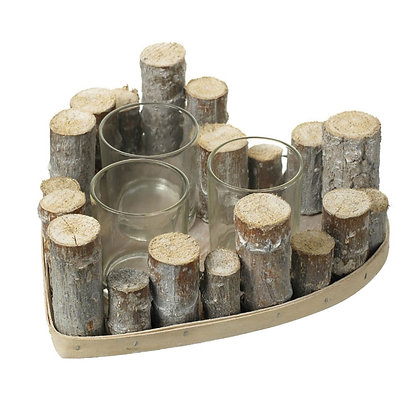 Heartwood 3 x Tealight Candle Holder