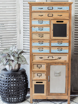 Tall Industrial Multi-Drawer Cabinet