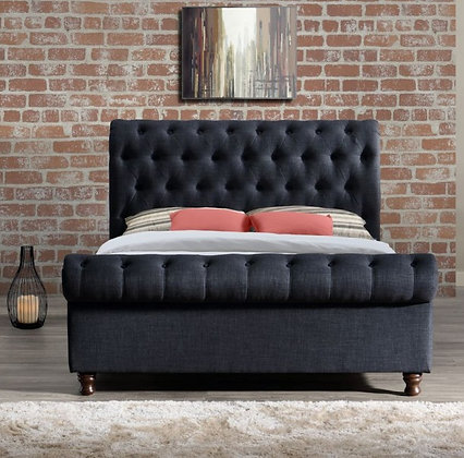 Coxwold King Size Bed - Charcoal