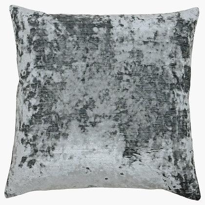 Graphite Crushed Velvet Cushion