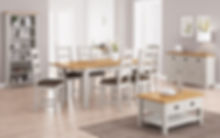 Grey painted furniture, painted dining room furniture, dining tables Bradford, painted tables Leed