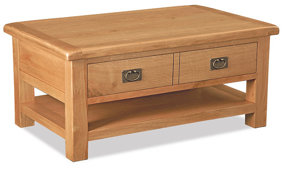 Settle Coffee Table with Drawer & Shelf