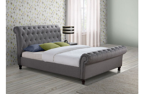 Coxwold Super King Bed - Grey