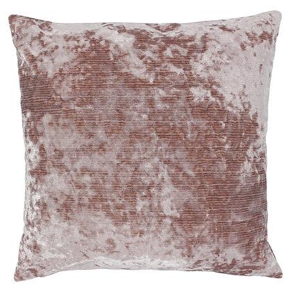 Blush Pink Crushed Velvet Cushion