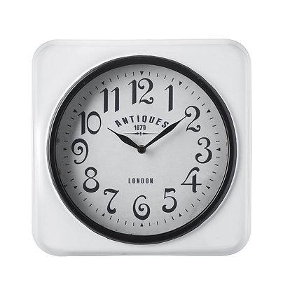 Antiques White Square Clock