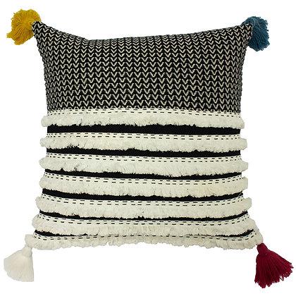 45 x 45 Rhia Cushion With Multicoloured Tassel Detail