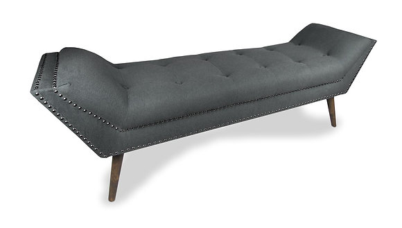 Large Charcoal Chaise