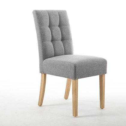 Silver Grey Waffle Back Chair