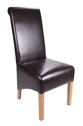 Kilnsey Brown Bonded Leather Chair