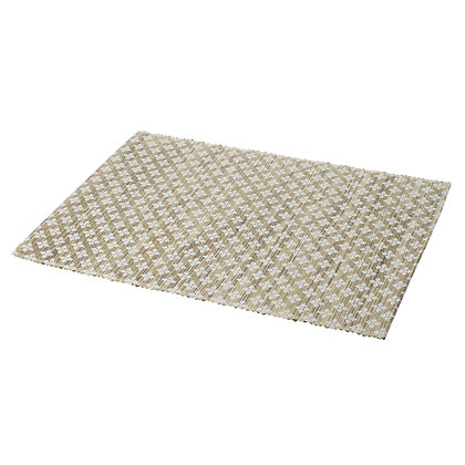 Natural + White Woven Place Mats (Set of 2)