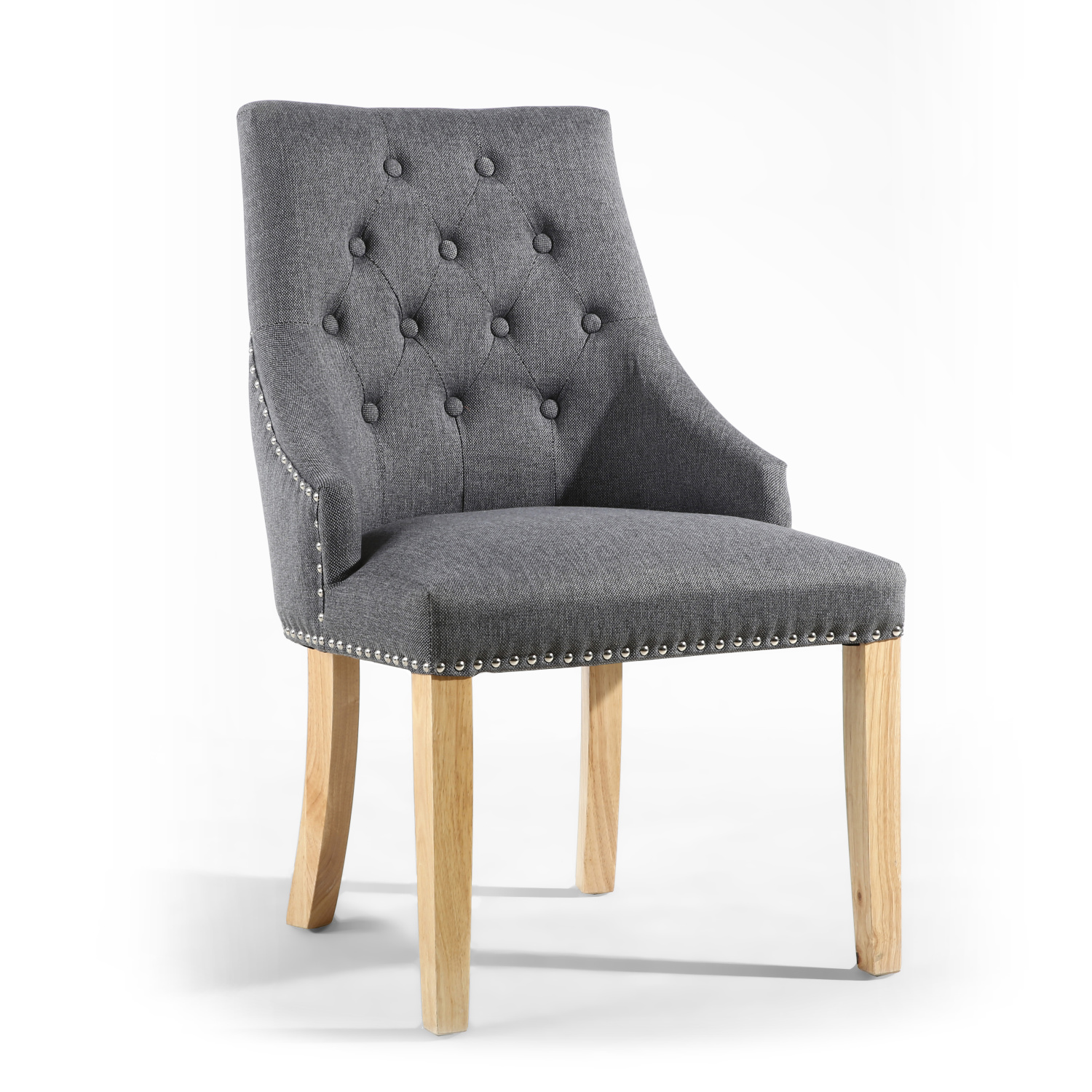 Steel grey accent chair - £124.20
