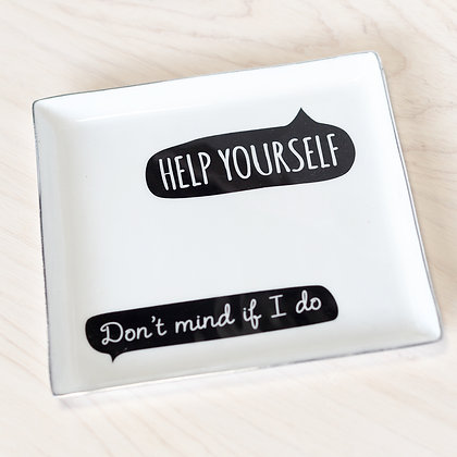 """""""Help Yourself"""" Serving Plate"""