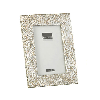 """Silver + Gold Hammered Effect Photo Frame 4 x 6"""""""