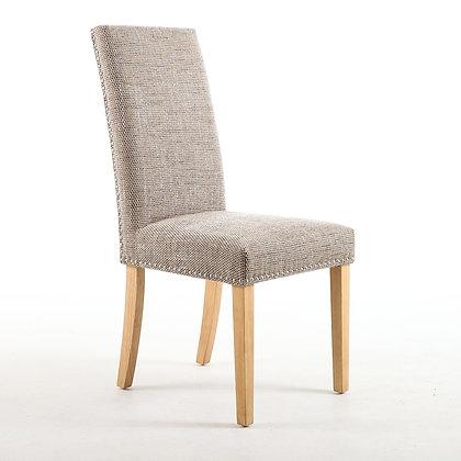 Oatmeal Tweed stud chair