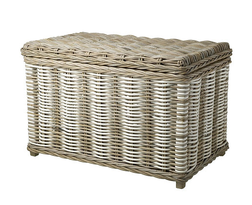 Large Rattan white/natural trunk