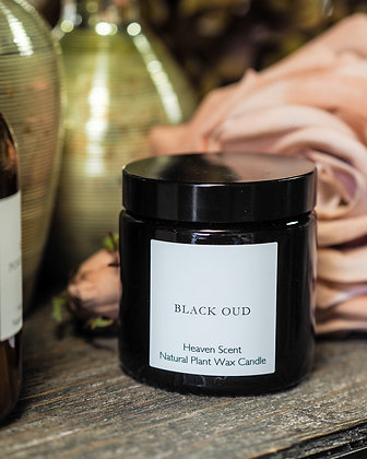 Luxury Black Oud 130ml Natural Plant Wax Candle