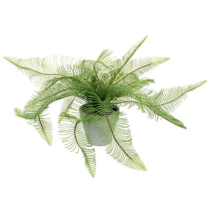 Artificial Feathered Fern in Pot