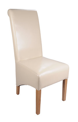 Kilnsey Ivory Bonded Leather Chair