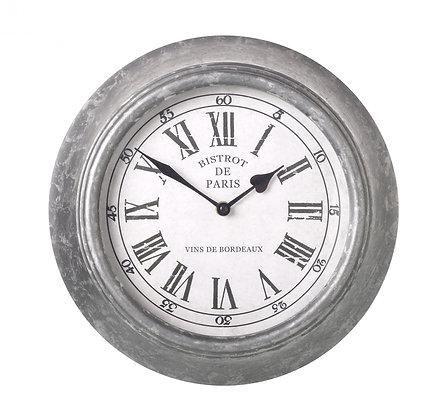Paris Grey Metal Clock