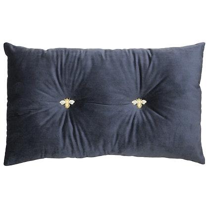 Grey Honey Bee Cushion