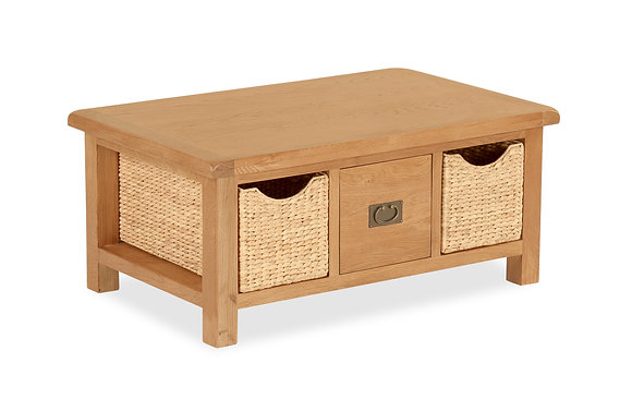 Settle Coffee Table w/ Baskets