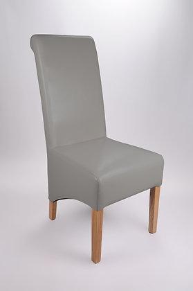Kilnsey Grey Bonded Leather Chair