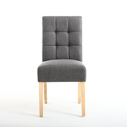 Steel Grey Waffle Back Chair
