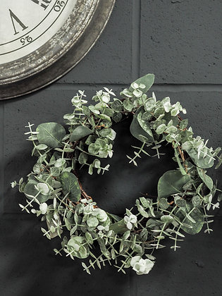 Handcrafted Large Faux Eucalyptus Wreath