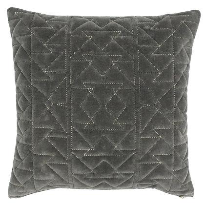 Grey Aztec Print Cushion