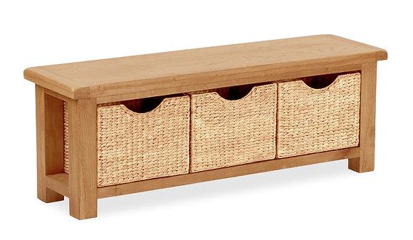 Settle Bench w/ Baskets