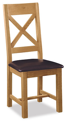 Settle Cross Back Dining Chair with PU Seat
