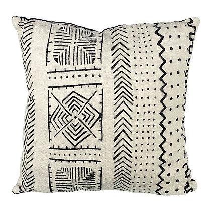 Cream + Black Aztec Print Cushion 45 x 45cm