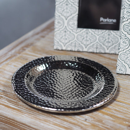 Round Hammered Metal Tray