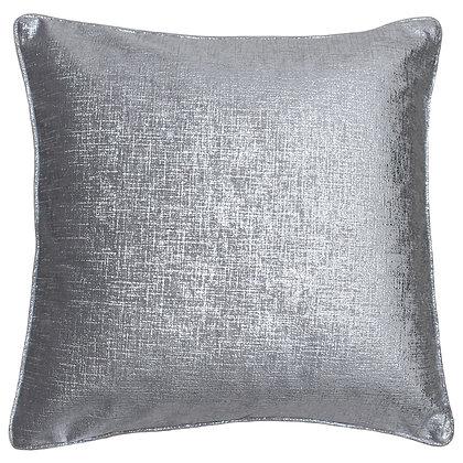 Luxe Metallic Silver Cushion