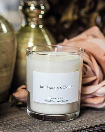 Rhubarb + Ginger Luxury Scent Candle