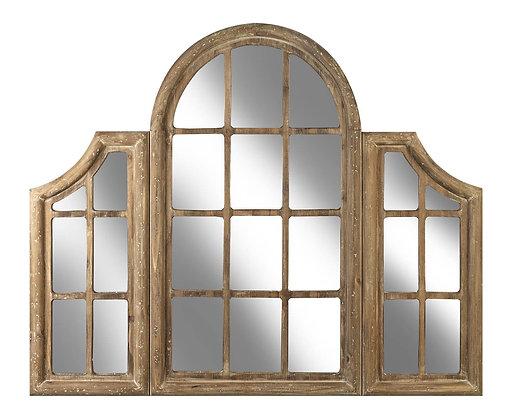 Window Style Wooden Mirror