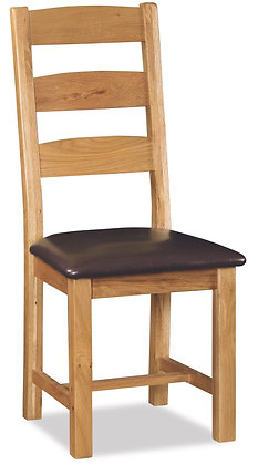 Settle Slatted Chair with PU Seat