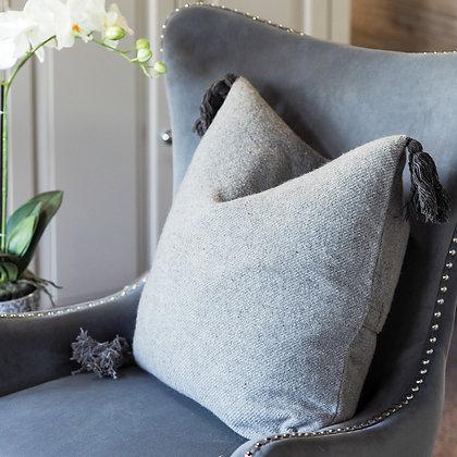 Grey Ladbroke Tassel Cushion