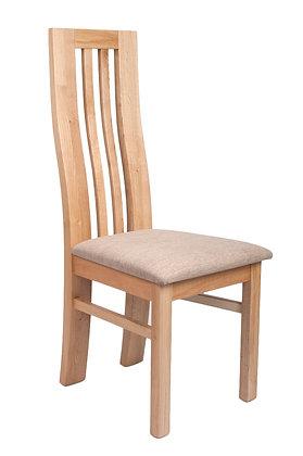 Natural Wave Back Oak Chair